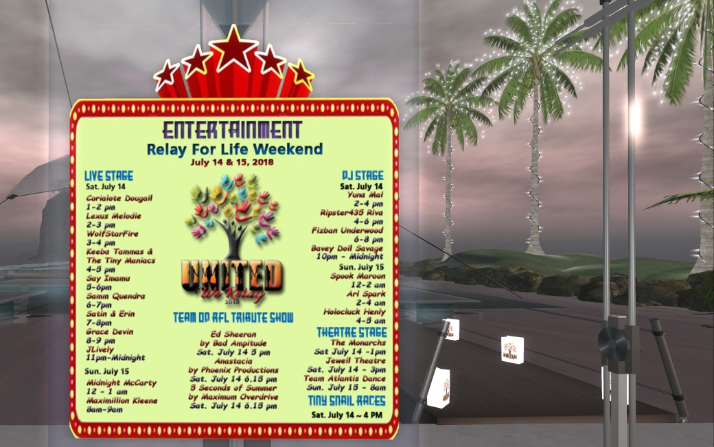 rfl entertainment schedule